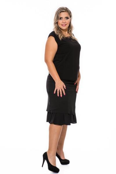 midi sukňa pre plnoštíhle