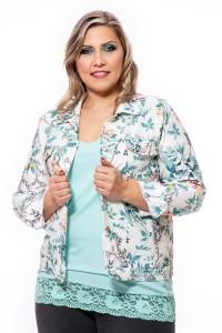 Dámsky riflový kabát