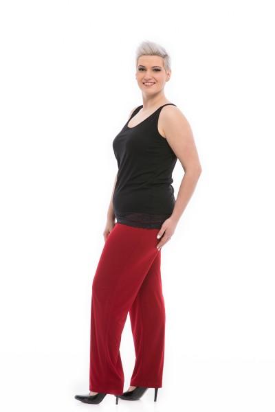 bordové nohavice pre moletky