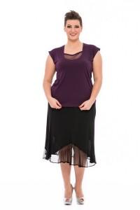 tylová sukňa pre moletky