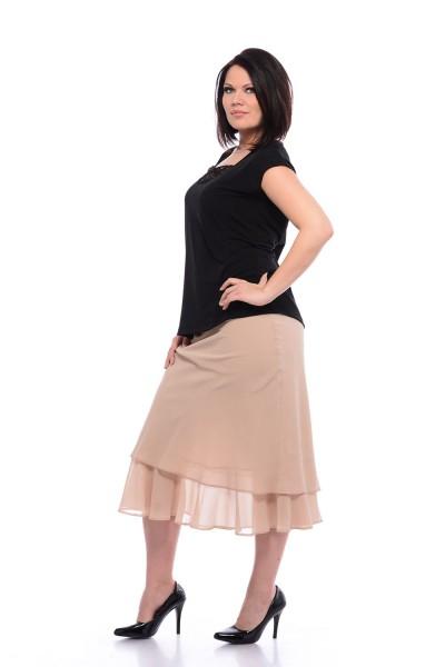 midi žoržet sukňa pre moletky